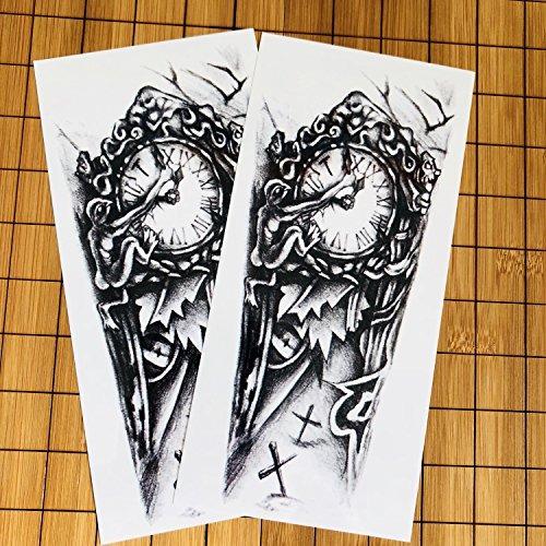 Kotbs 2 Hojas Tatuajes Temporales 3d Cruz Reloj Brazo Del 82900