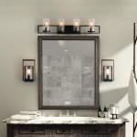 Laluz 4 Lights Rustic Black Bathroom Vanity Lights With Seed 989 900 En Mercado Libre