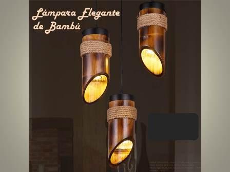 Lmpara De Bamb Elegante   149900 en Mercado Libre