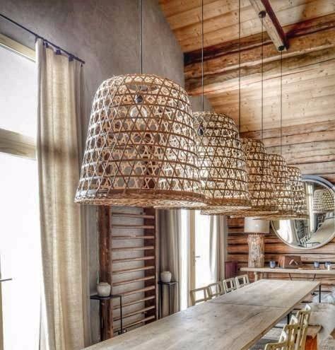 Lampara De Rattan Bambu Bamboo   159000 en Mercado Libre