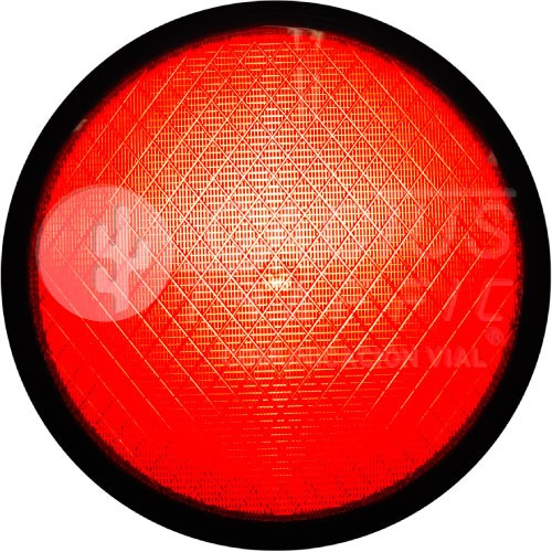 Lmpara De Semforo Led Mica De Color 30 Cm Color Rojo