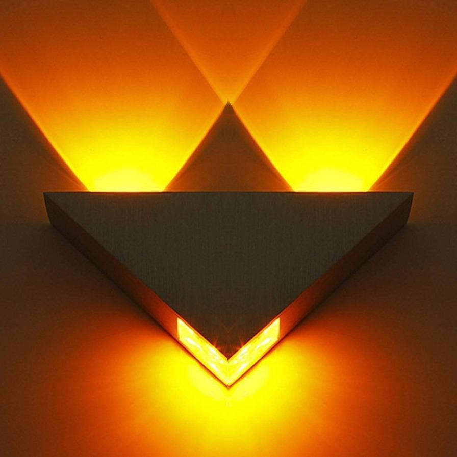 Lampara Led Moderna Para Techopared Triangulo Luz