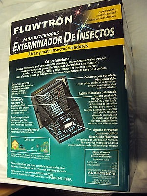 Lampara Mata Moscas Mosquitos Insectos Flowtron 2000m2 Wow