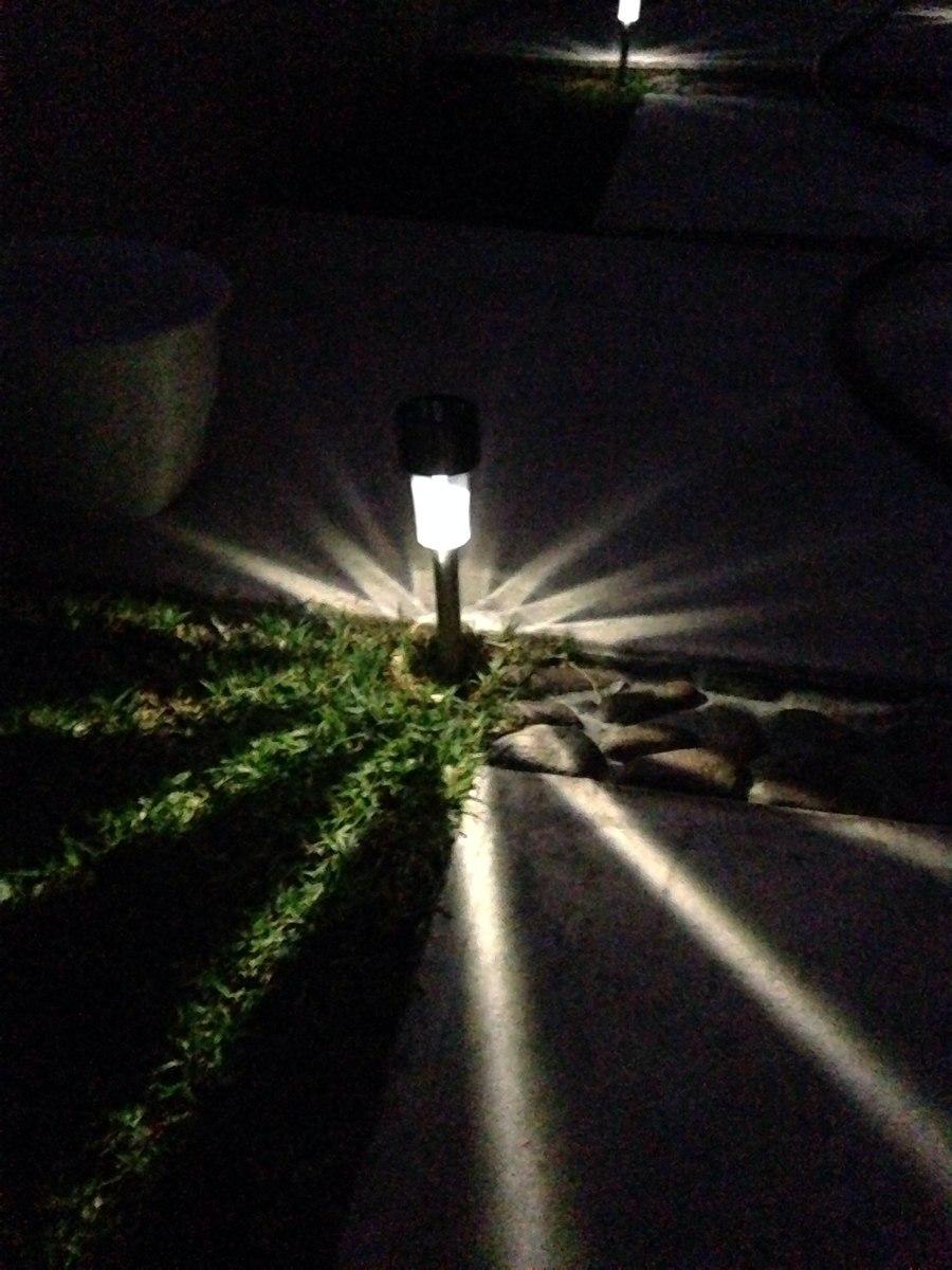 Lmpara Solar Luces Luz Jardn Exterior Led   4400 en