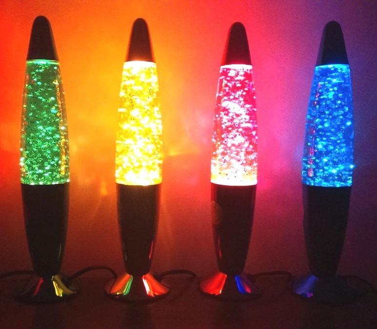 Lamparas De Lava Con Glitter  Muy Bonitas    474