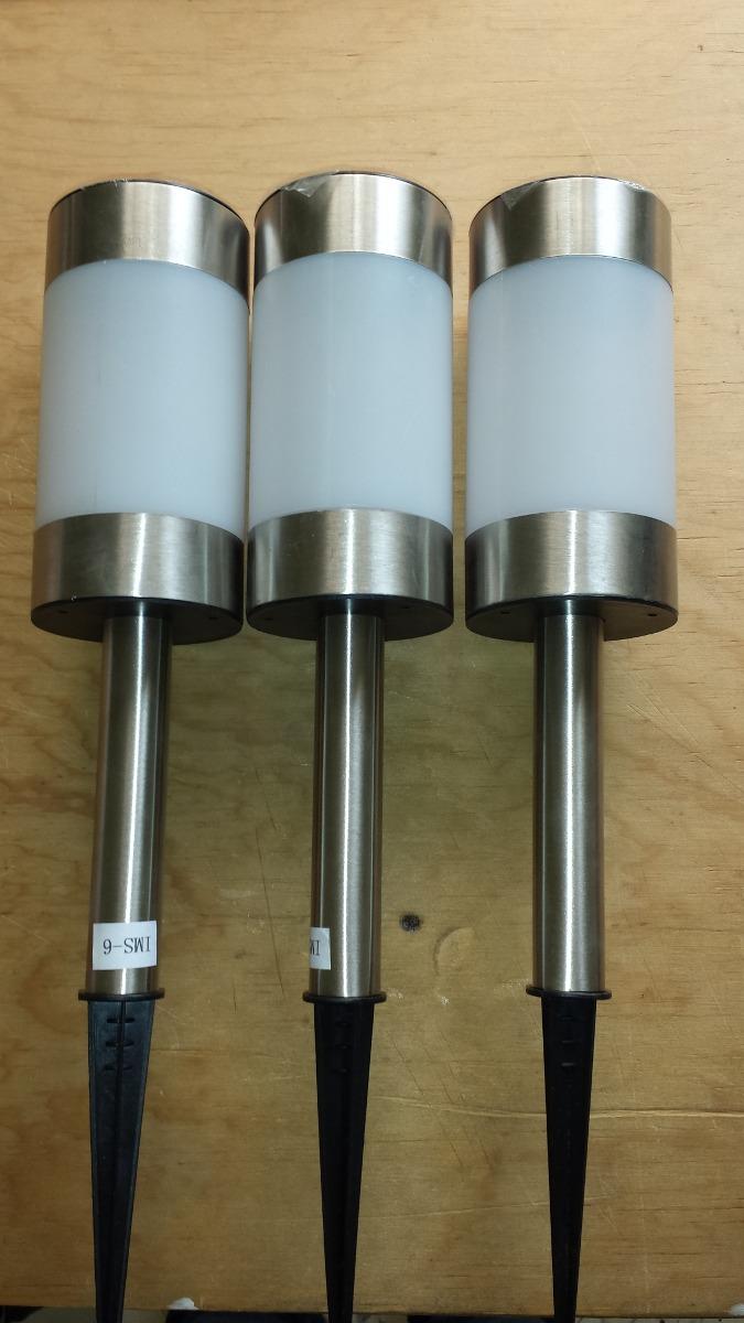 Lamparas Solares Para Exteriores Y Jardn Aluminio Paquete 3   33000 en Mercado Libre