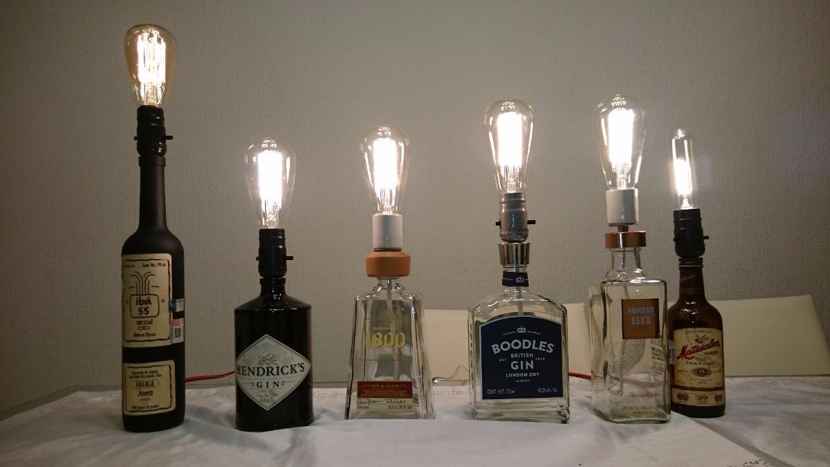Lmparas Vintage Hechas Con Botellas   55900 en Mercado