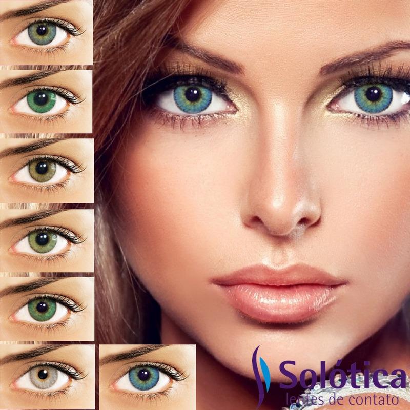 e67856467151b Carregando Zoom. Lentes De Contato Solflex Natural Colors C Frete Grátis R  88
