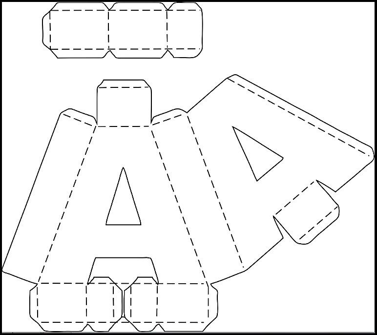 Letras 3d Molde Corte Manual Nos Formatos Pdf E