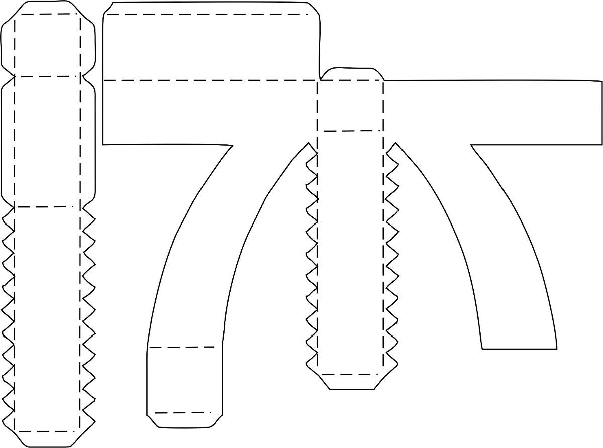 Letras 3d Para Corte Manual Formatos Png, Pdf E