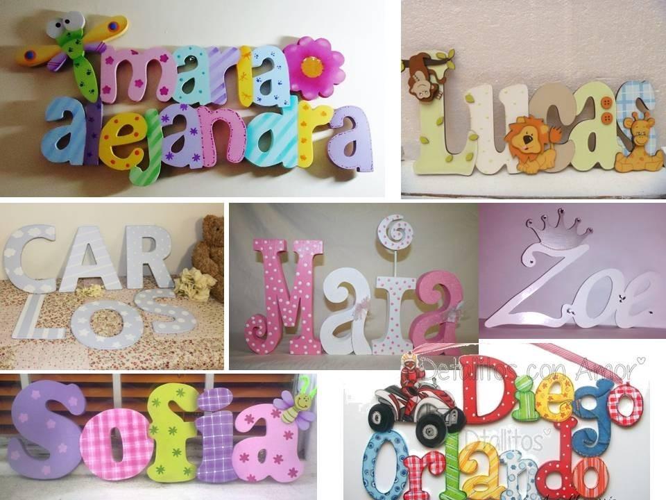 Letras Decoradas Infantiles Juegos Decoracion Cuarto Nios