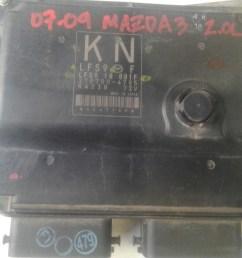 mazda 3 07 09 2 0l pcm computadora motor cargando zoom  [ 1200 x 900 Pixel ]