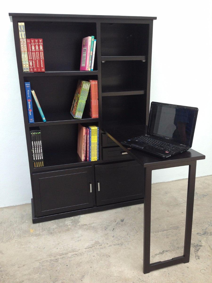 Librero 1 Mueble 2 En 1 Escritorio De Madera
