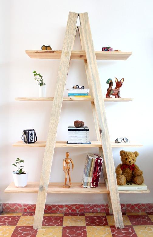 Librero Nuevo Tipo Escalera madera 100   240000 en