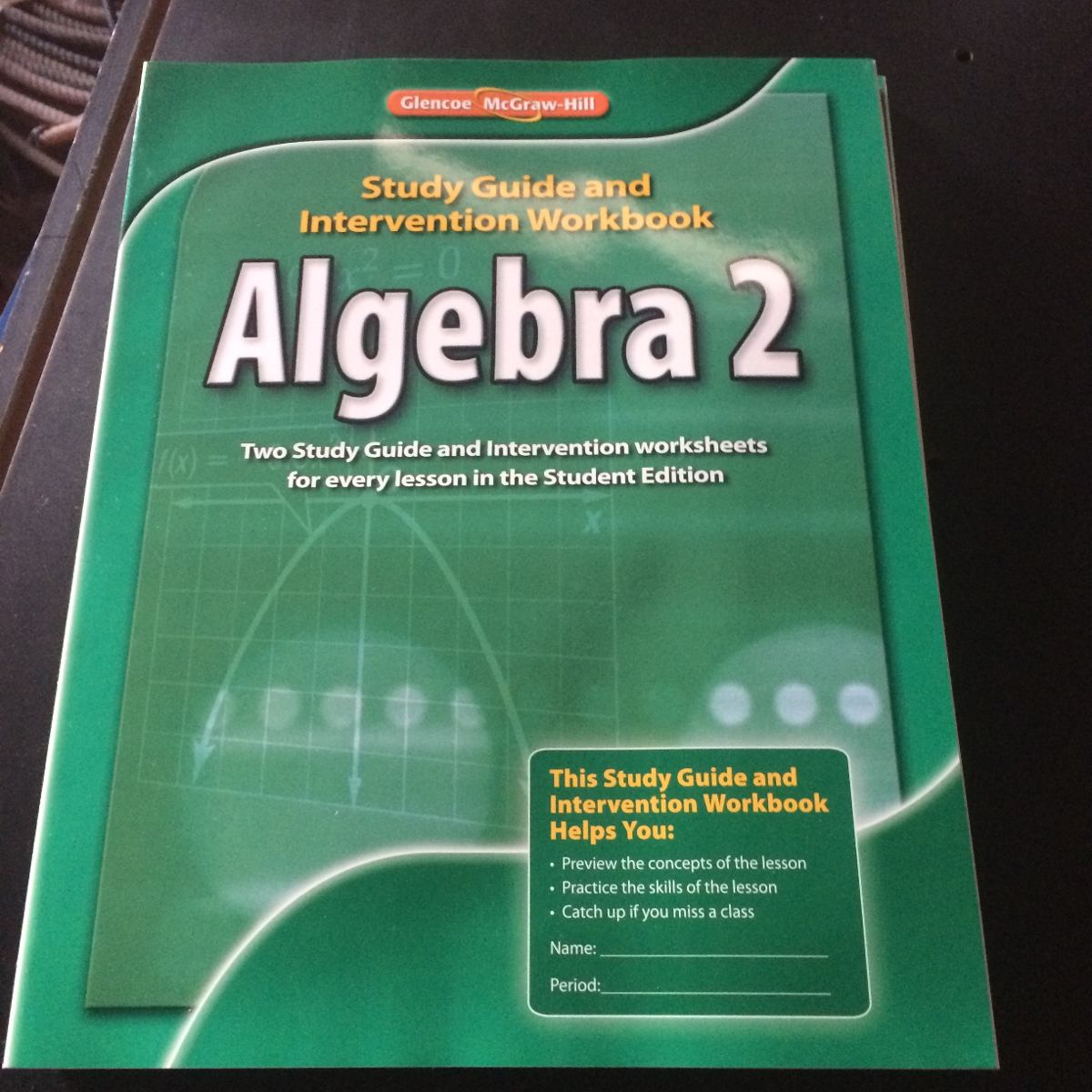 Libro Algebra 2 Workbook Glencoe Mcgraw Hill
