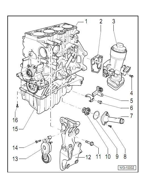 2011 Volkswagen Jetta Diagrama Del Motor
