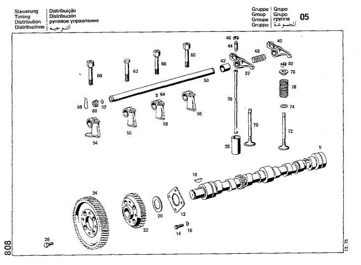 Libro Despiece Mercedes Benz Motor Diesel Om364-a, 1964