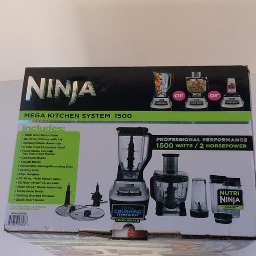 ninja mega kitchen 1500 cabinet makeovers licuadora system 3 en 1 w 2 hp ...