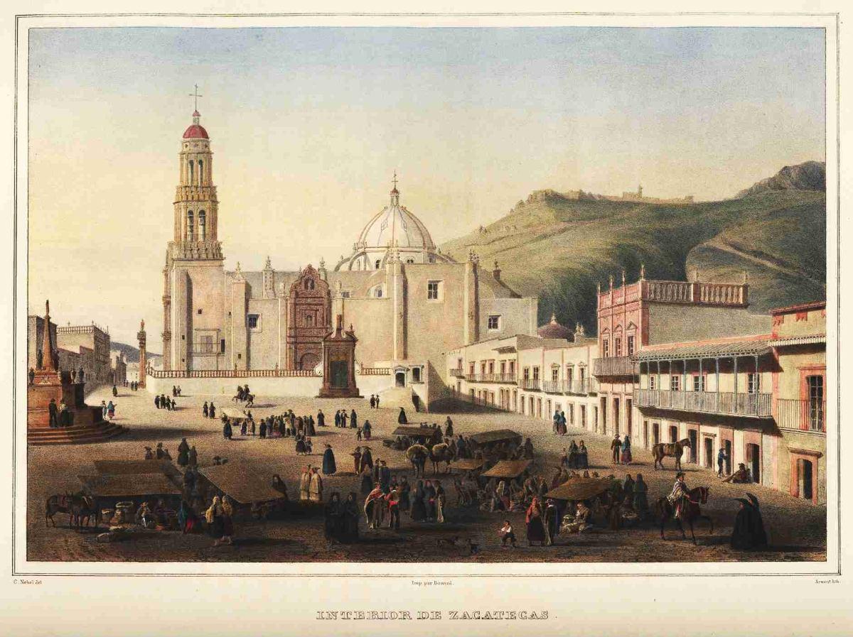 Lienzo Tela Grabado Nebel Zacatecas Mxico 1836 50 X 67 Cm   75000 en Mercado Libre