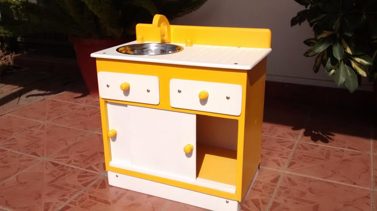 Lindo Mueble Lavaplatos De Madera Para Nias Y Nios   45000 en Mercado Libre