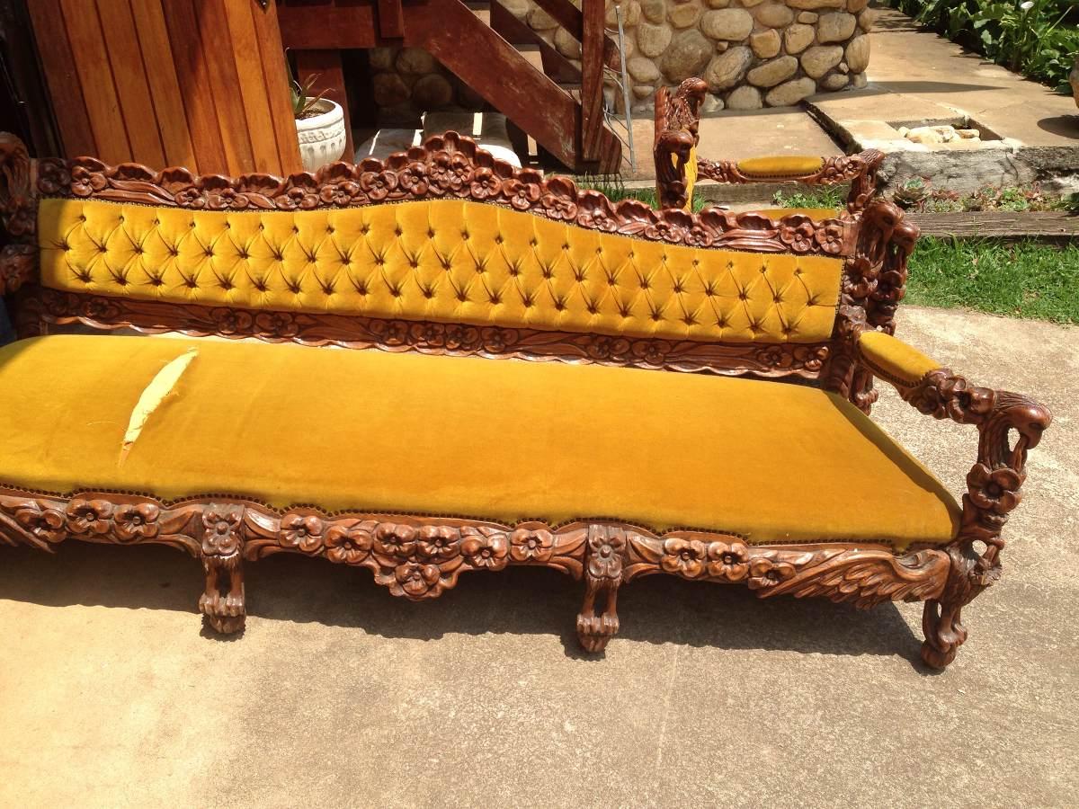 sofa usado olx rio de janeiro rugs with dark grey lindo sofá estilo colonial 1979 r 5 800 00 em