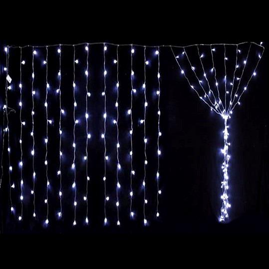 Lluvia De 200 Luces Led Cortina Navidad 2x2m Blancas