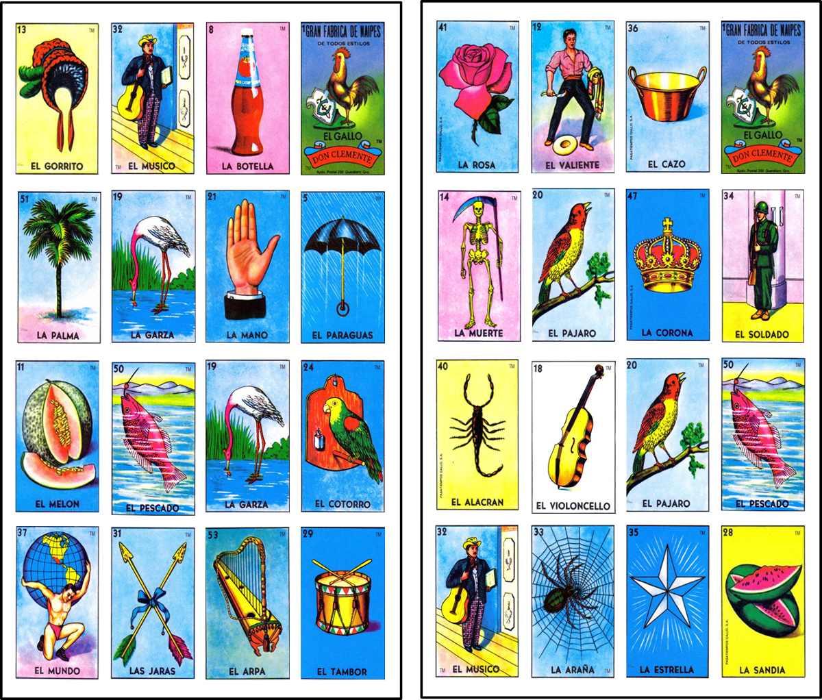 Mexicana Para Cartas Loteria Imprimir