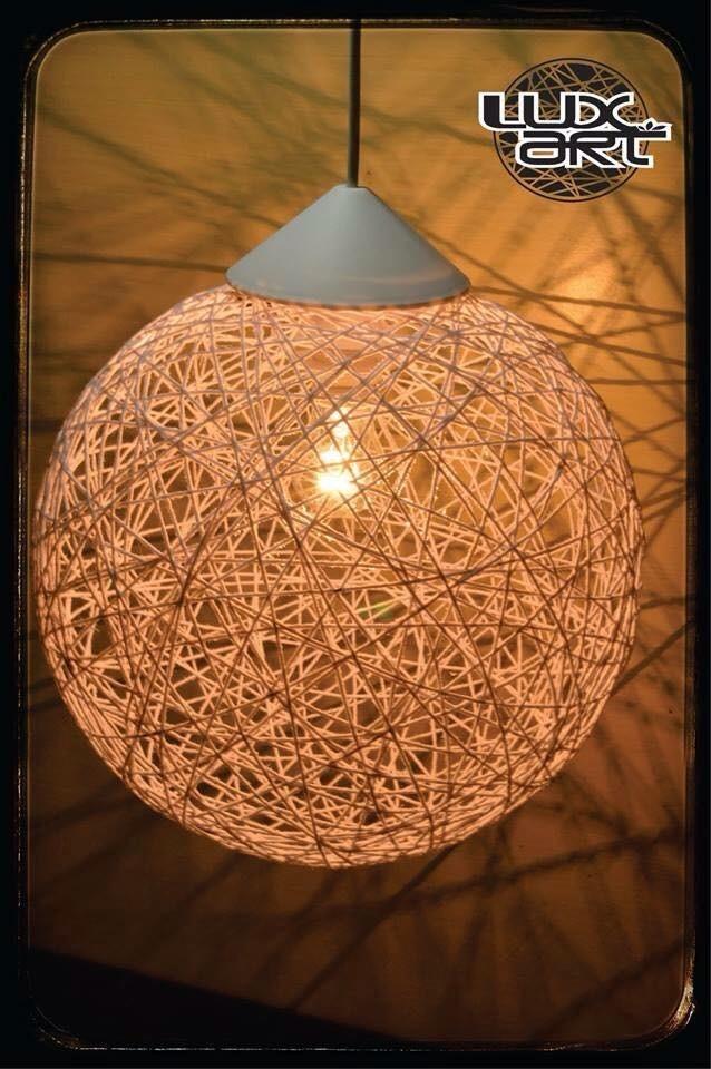 Luminria Artesanal De Barbante  R 12000 em Mercado Livre