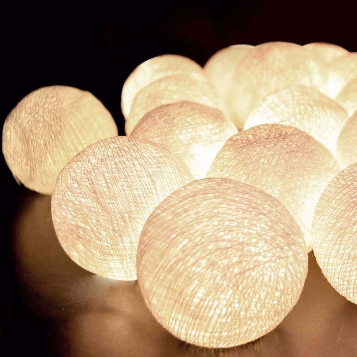 Luminria Cordo Fio De Luz Led 30 Bolas  3 Kits 10 Bolas