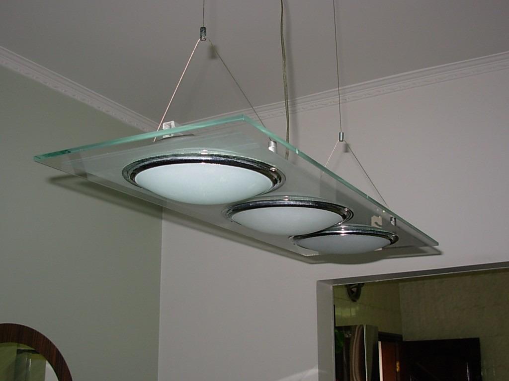 Luminria Pendente Regulvel De Vidro Sala De Estar Jantar