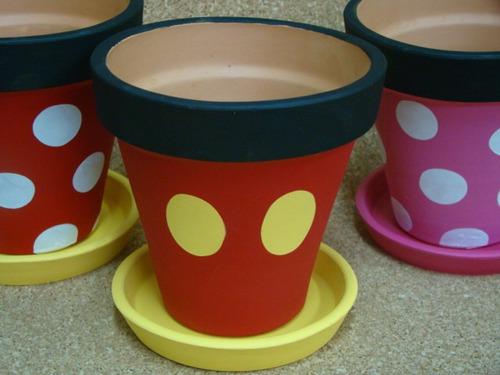 Macetas Mickey Mouse Y Minnie Mouse Recuerdos   4200