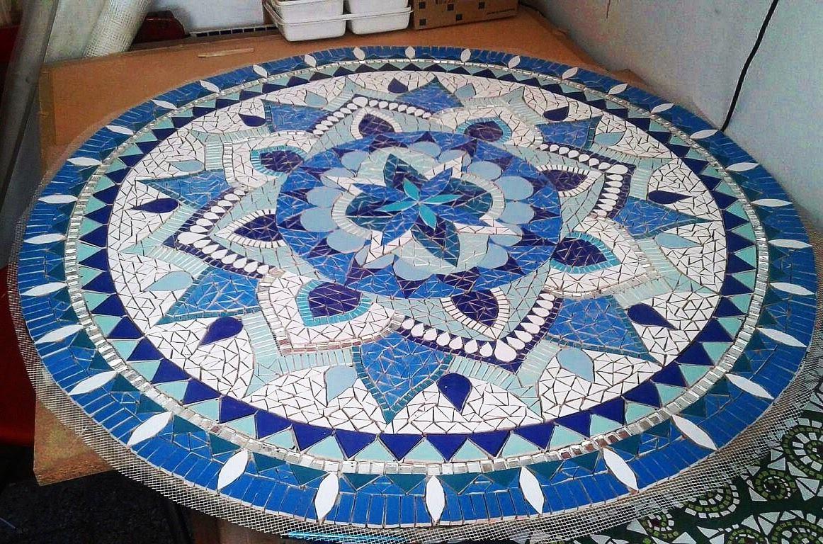 Mandala 70 Cm Mosaico Azulejos Venecitas Mosaiquismo   4