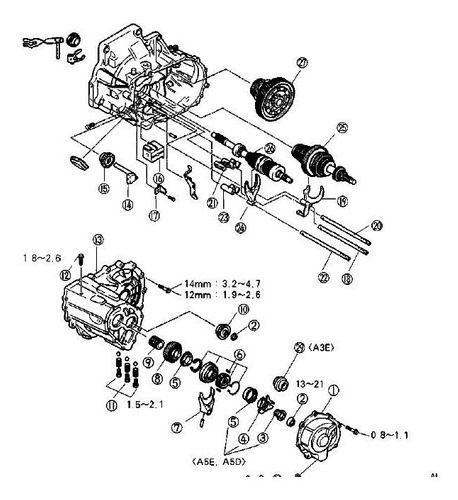 Manual De Taller Caja A4af3 Kia Rio Hyundai Accent Elantra