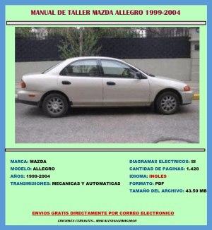 Manual De Taller Servicio Diagramas Mazda Allegro 1999