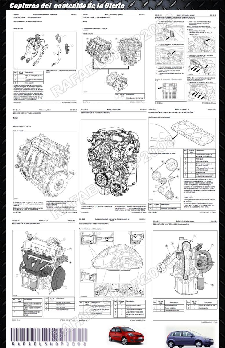 Manual De Taller Servicio Ford Fiesta Motor Zetec Rocam 1