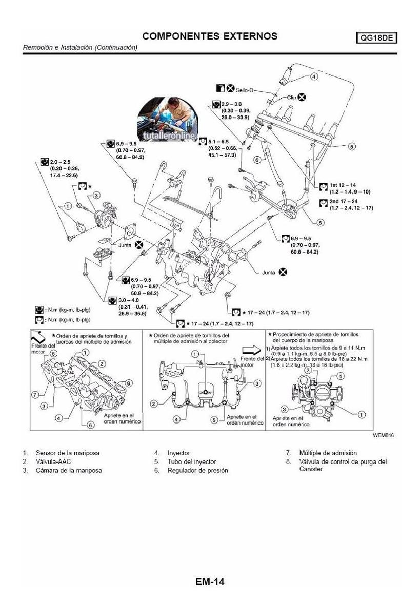 Manual De Taller Y Reparacion Nissan Sentra (b-15) 2001