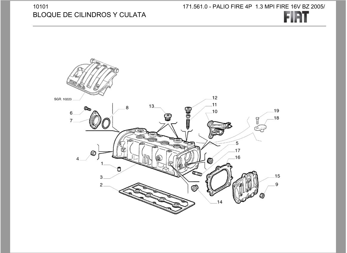 Manual Despiece Catalogo Partes Fiat Palio Fire 1.3 16v