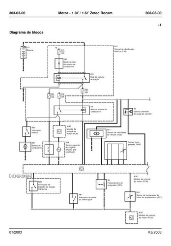 Manual Diagramas Electricos Ford Ka 1.6l Zetec Rocam 03-07