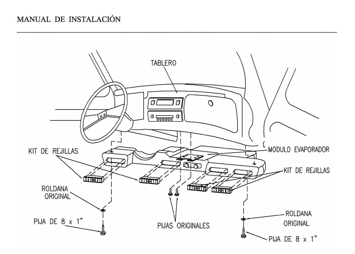 Manual Instalación De Aire Acondicionado Para Vw Sedan