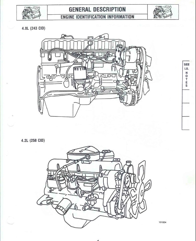 Manual Reparacion Motor Amc Jeep 258 Y 242 (4.2 Y 4.0