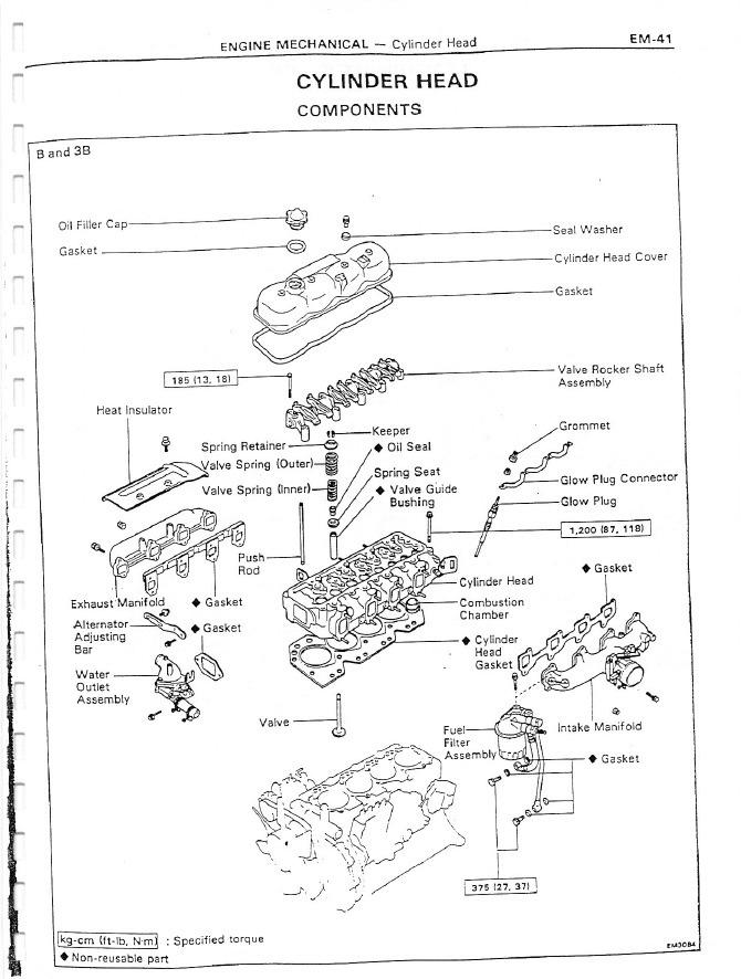 Manual Reparación Motor B 3b 11b 13b 13b Toyota Dyna