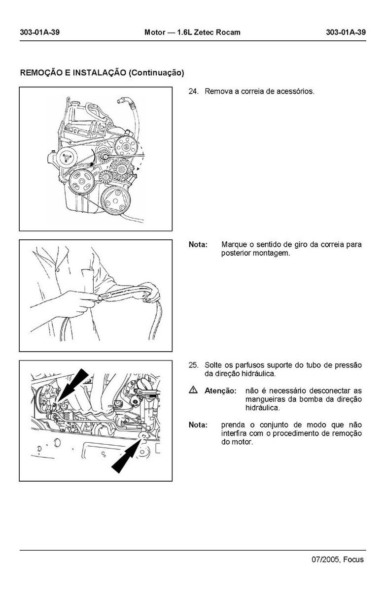 Manual Reparação Serviço Motor Ford Zetec Rocam 1.6l 8v