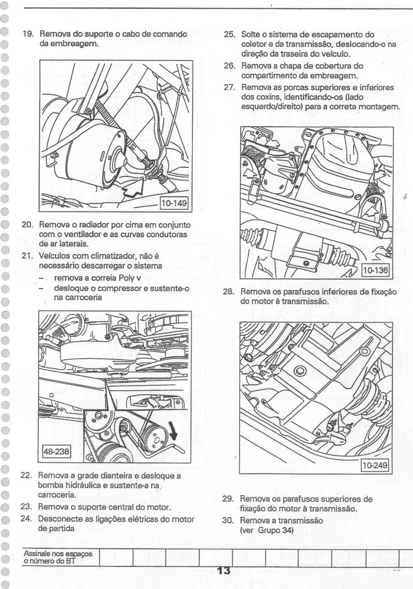 Manual Reparação Serviço Motor Volkswagen Ap 1.8 Ap 2.0