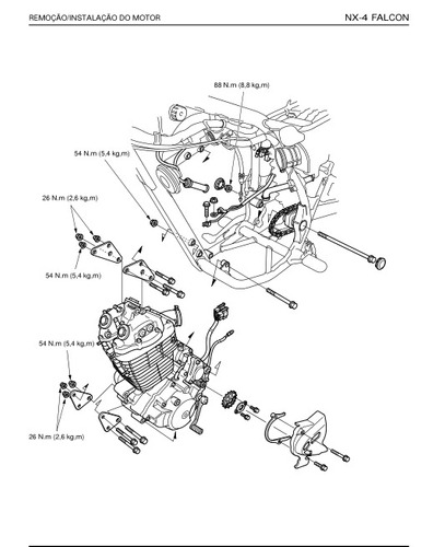 Manual Serviço Honda Nx4 Falcon + Catalogo De Peças Em Pdf