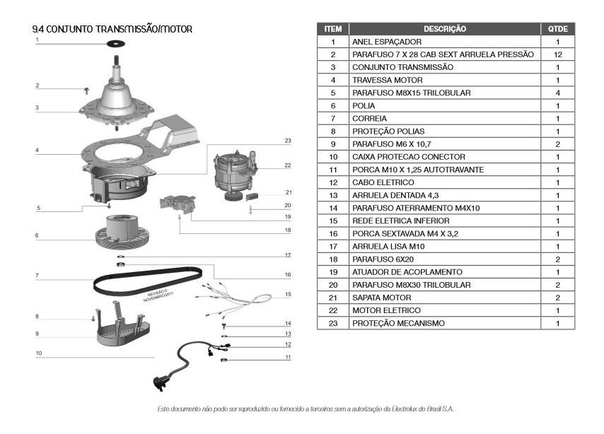 Manual Serviço Lavadora Roupas Electrolux Lt12f Lt12q Pdf