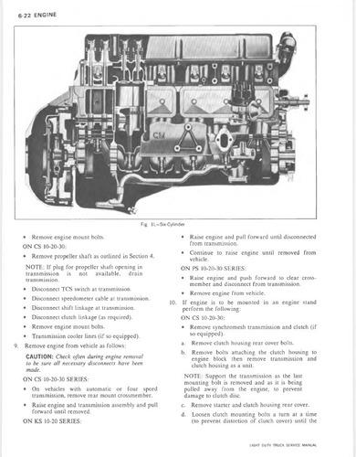 Manual Taller Servicio Chevrolet Silverado 1974 C10 C30