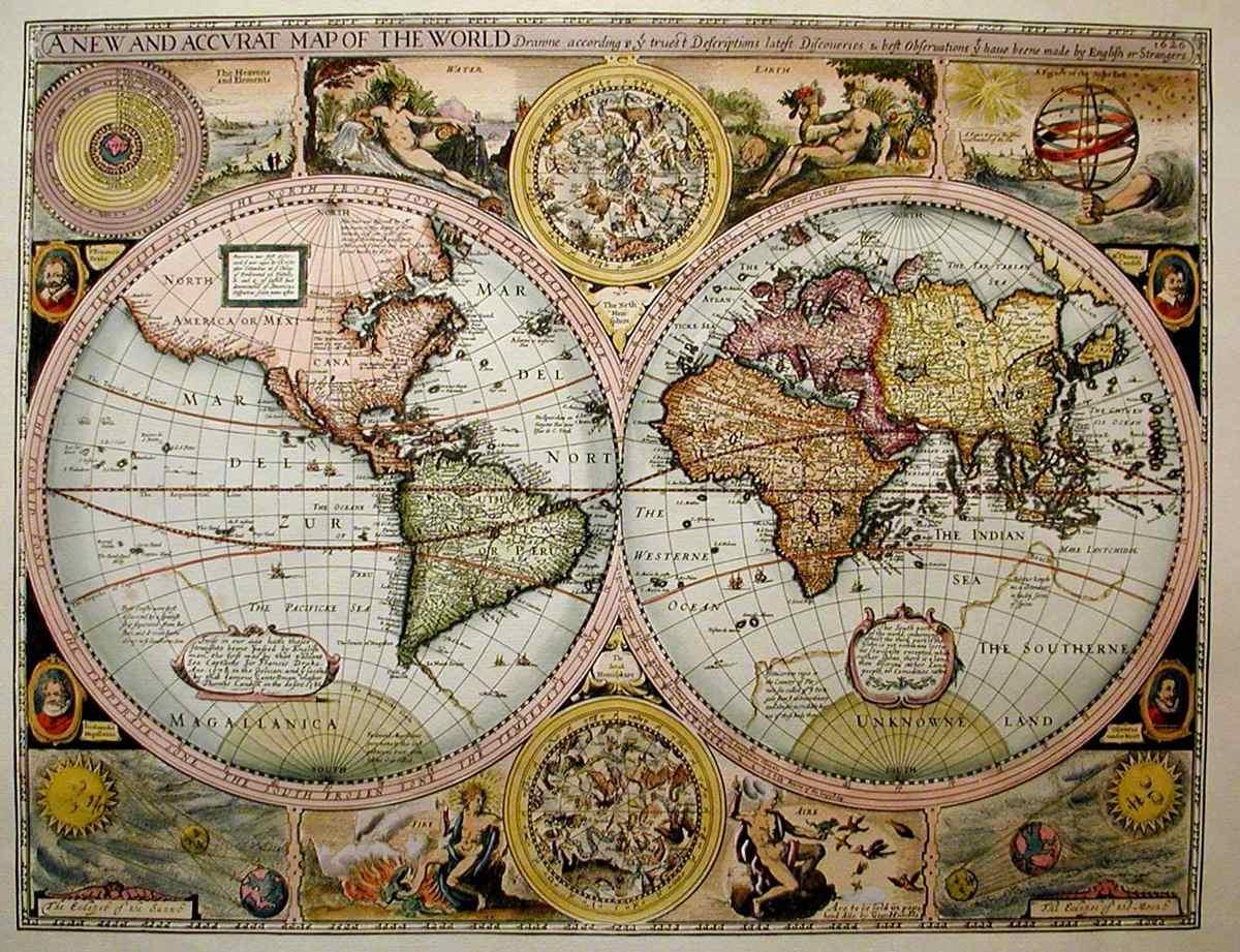 Mapas Antiguos En Laminas O Posters   5000 en Mercado Libre