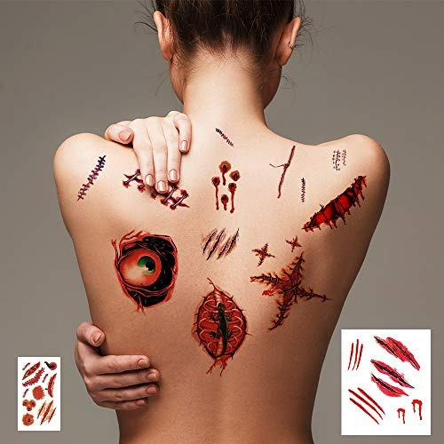 Maquillaje De Zombie Halloween Tatuajes De Zombie Kit De Maq
