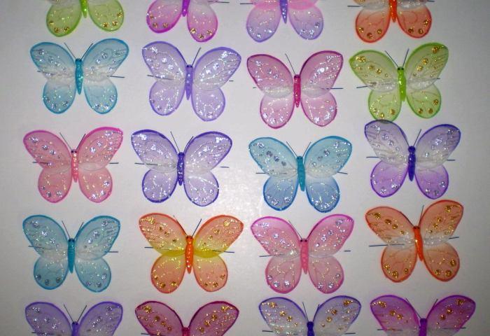 Mariposas Y Libelulas Para Decorar De Alambre Y Organza Bs 2000