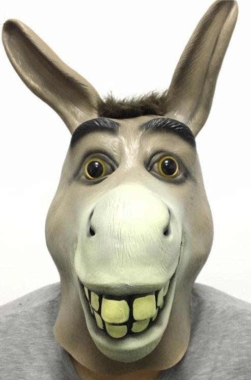 Mascara Borracha Burro Shrek Latex Filme Desenho